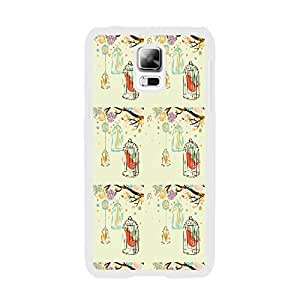 Samsung Phone Cases - Animal Patterned Design Cute Samsung Galaxy S5 I9600 Hard Plastic Case Back Skin Protector (floral bird BY521)