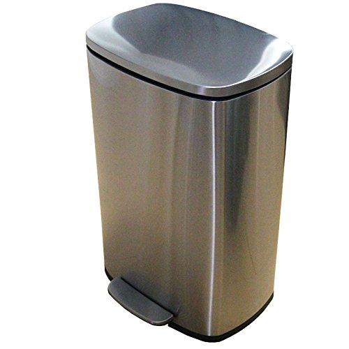 マナベインテリア ダストボックス 50L ステンレス ダストボックス フラットランド ゴミ箱 ごみ箱 ダストボックス ごみ スリム リットル B07BCYSL28