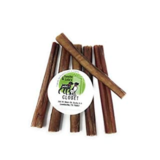 Sancho & Lola's Bully Sticks for Dogs 6-Inch Moderate Odor High-Protein Grain-Free Beef Pizzle Dog Chews