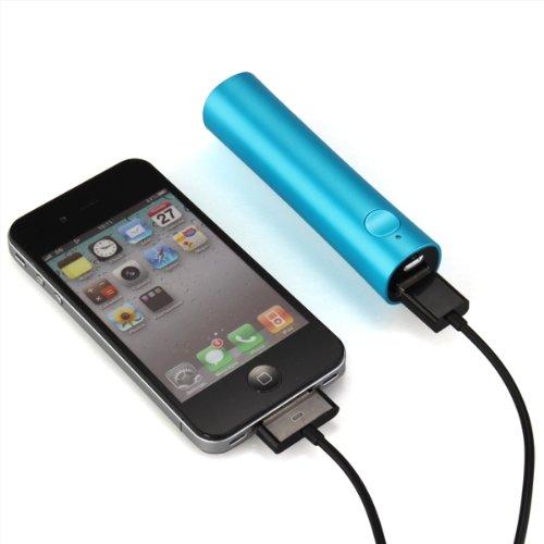 Batería Externa Cargador Portátil 2600mAh Color Azul para ...