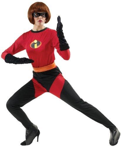 [Adult Mrs Incredible Super Hero Fancy Dress Costume] (The Incredibles Mrs Incredible Costumes)