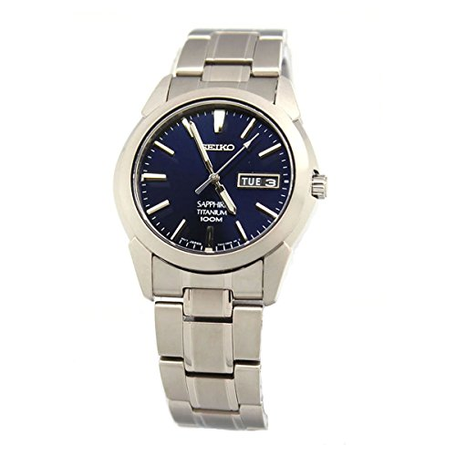 - Men's Titanium Quartz Dark Blue Dial