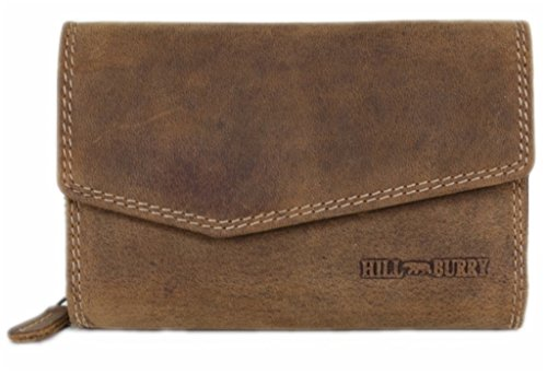 Hill Burry Wallet for Women Large Capacity Long Genuine Leather Clutch ID Card Holder Organizer Ladies Purse Vintage Budapest