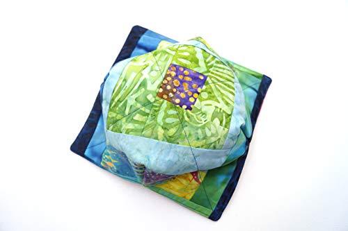 Batik Print Patch - Batik Fabric Microwave Bowl Cozy in Colorful Patchwork
