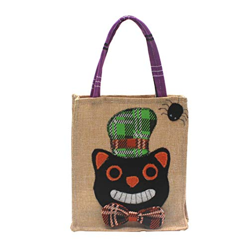 Sunshinehomely Halloween Candy Bag Witches, Halloween Cute Witches Candy Bag Packaging Children Party Storage Bag (B)