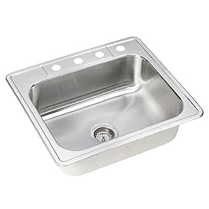 Elkay NLB25224 Neptune 25-by-22-by-8-Inch Single Bowl Kitchen Sink ...