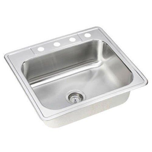 Elkay Sink Template - Elkay NLB25224 Neptune 25-by-22-by-8-Inch Single Bowl Kitchen Sink, Stainless Steel
