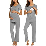 MAXMODA Soft Breastfeeding Clothes Nursing Hospital Set