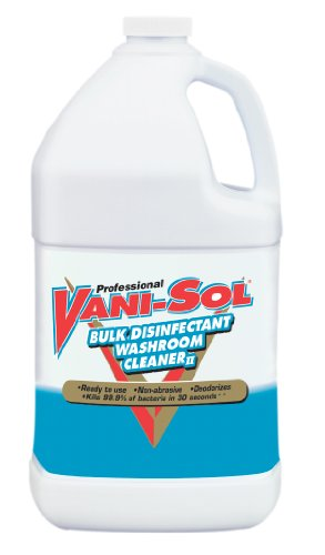 VANI-SOL Professional Bulk Disinfectant Washroom Cleaner, 128 Ounce (Pack of 4)