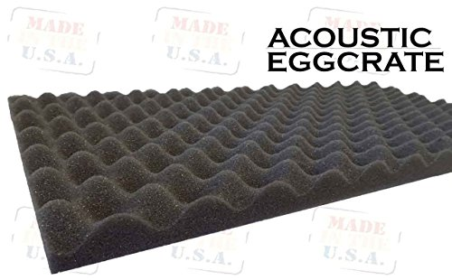 2 Pack Acoustic Foam Egg Crate Panel Studio Soundproofing Fo