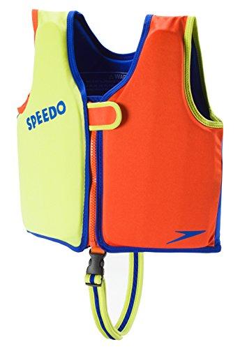 Speedo Kids UPF 50+ Begin to Swim Classic Swim Vest, Lime/Orange, Medium (Swim Vest Boys)