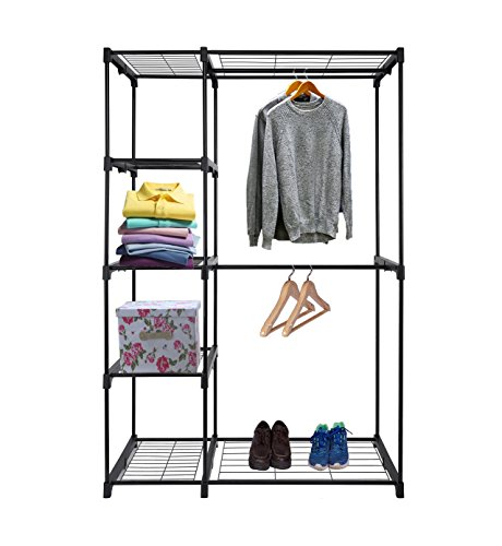 reliatronic-double-rod-freestanding-closet-with-5-layers-of-storage-space
