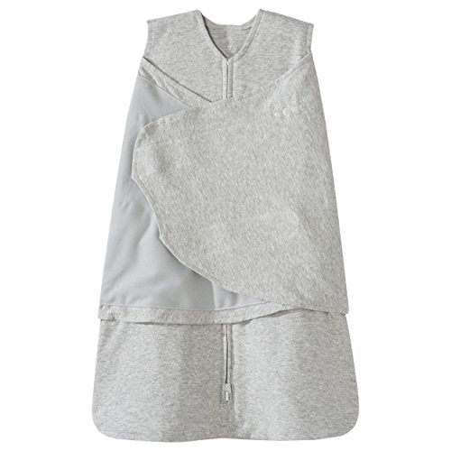 Halo SleepSack 100% Cotton Swaddle, Heather Gray, Small by Halo