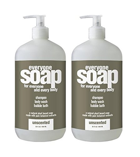 Everyone - 3 in 1 Bath Soap: Shampoo, Body Wash and Bubble Bath, Unscented - 32 Ounce (2 - Bath Unscented