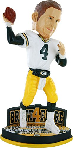 FOCO NFL Green Bay Packers Unisex Career Stats Base Bobble - HOMECAREER Stats Base Bobble - Home, Team Color, OS