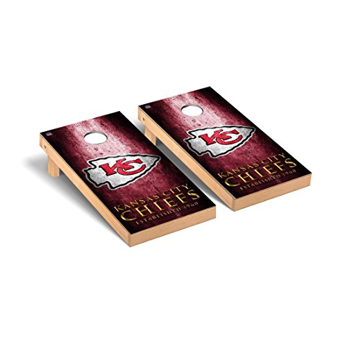 NFL Kansas City Chiefs Museum Version Football Corn hole Game Set, One Size by Victory Tailgate (Image #1)