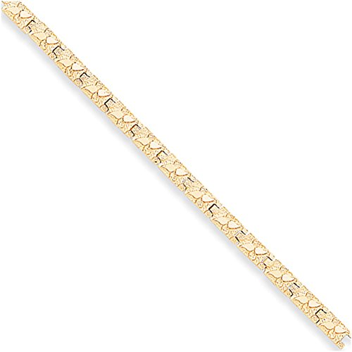 14k Yellow Gold 5.0mm Nugget Bracelet NB6 (Yellow Gold Nugget Bracelet)