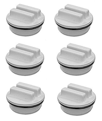 Optimum Pool Technologies 6 Pack - Filter Drain Plug (for Hayward and Pentair) 1.5