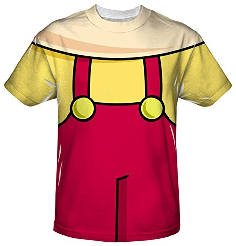 [Youth: Family Guy - Stewie Griffin Costume Tee Kids T-Shirt Size YM] (Stewie Family Guy Costume)