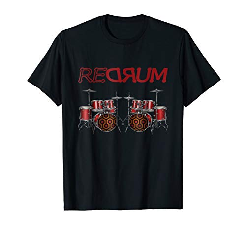 Redrum Shirt Funny Scary Horror Movie T Shirts Men Drummer