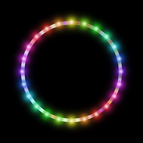 Homend 36 inch LED Hula Hoop 28 Color Strobing and Changing LED Lights, Hoola Hoops for Adults and Kids