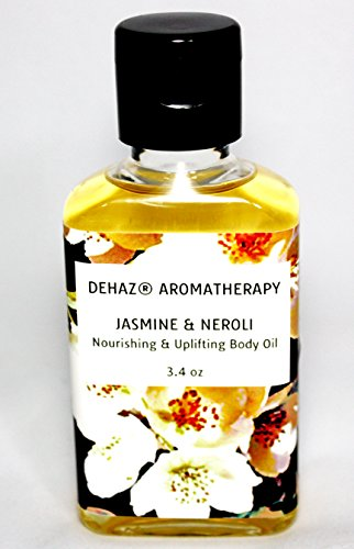 JASMINE & NEROLI Body Oil- DEHAZ Skincare 100% Pure Natural Vegan Botanical Aromatherapy