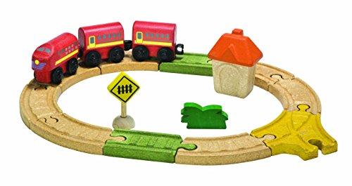Plan Toys Train - PlanToys City Road and Rail Oval Railway