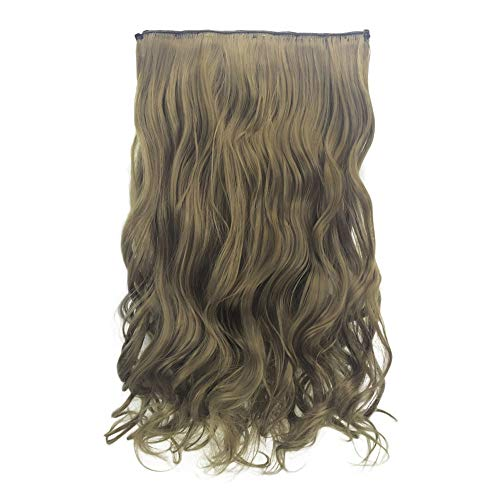 NEARTIME 1PC of Five Clips Wave Wigs, Ponytail Curly Pony Tial Hair Extensions Pretty Wave Roll for Girl Lady Women