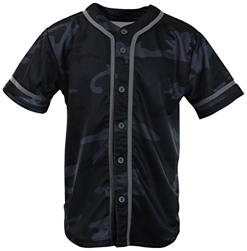 Wicking Softball Jersey - ChoiceApparel Mens Plain Solid Color Baseball Jersey (XL, MF203-Charcoal Camo)