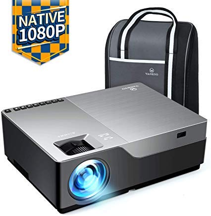 VANKYO Performance V600 Native 1080P LED Projector, 5000 Lux HDMI Projector with 300''Display Compatible TV Stick, HDMI, VGA, USB, Xbox, Laptop, iPhone Android for PowerPoint Presentation by vankyo