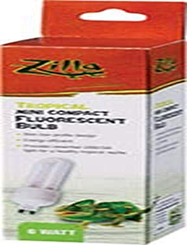 Zilla 13989 Mini Compact 6W Tropical Fluorescent Bulb