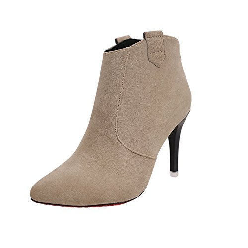 botas cortas alta delgada botas con alta y fina cortas de nuevo botas Ultra Caqui versátil moda ultra la con mujer consejos con 8YSzfxO