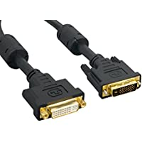Cablelera DVI Male Digital/DVI Female Digital Dual Link, 2m, Black, Gold Plated (ZC66D3MF-2M)