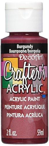 DecoArt Crafter's Acrylic Paint, 2-Ounce, Burgundy (Maroon Paint)
