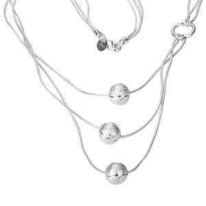 Damas Cadena Necklace Collar 925plata chapado en 46cm R189