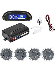 MEIKAI Auto Parking Radar Monitor Detector System Auto Auto Parktronic LED Parkeersensor Met 4 Sensoren Omgekeerde Back-up Achtergrondverlichting Display