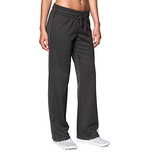 Under Armour Women's Armour Fleece Pant, Carbon Heather (092)/Charcoal, Medium