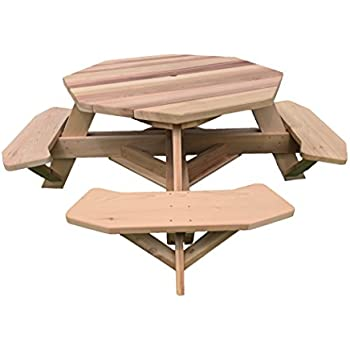 Amazon Com White Cedar Octagon Walk In Picnic Table