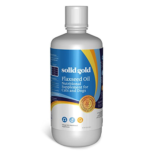 Solid Gold Cold-Pressed Flax Seed Oil for Dogs & Cats, All Ages, All Sizes, 32 oz Bottle