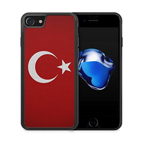 Türkiye Turkey Türkei Neu Flagge iPhone 7 Plus SILIKON TPU Hülle Cover Case Schale Flag