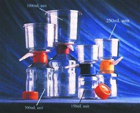 Disposible Vacuum Filter 500 ml/500 ml, 0.45 µm Cellulose Nitrate, 12/CS