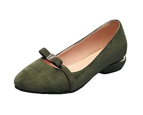 punta con Women Scarpe Aalardom scuro Verde tacco chiusa Tsmdh005751 6Z1aw