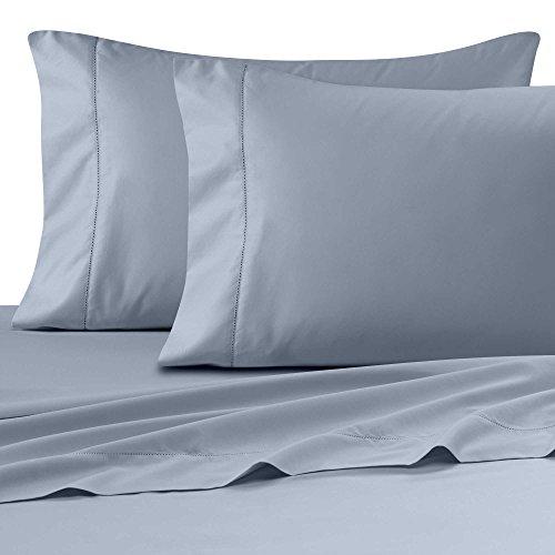 Wamsutta Ultra Soft Sateen 525-Thread-Count QUEEN Flat Sheet in LIGHT BLUE