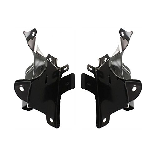 Bumper Bracket compatible with Chevrolet Silverado 1500 07 Front Right and Left Side Outer Set of 2 Steel ()