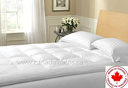Small Goose Feather bed Mattress Topper Made In Canada (King) Westlife Bedding