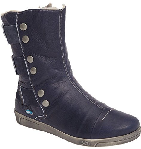 Cloud Footwear Women's Amber Wool Lined Boots (38 M EU, Blue) -