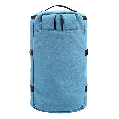 Dantiya(hombre)Mochila de hombros lona a la moda estudiantes lago azul