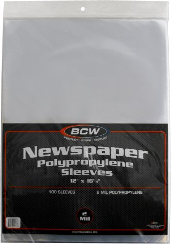 Collector Newspaper ((100) Newspaper Sleeves - 12-1/8