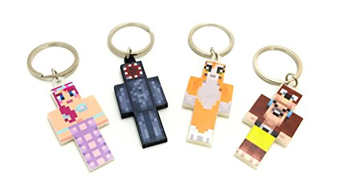 Minecraft Villager Costume (Keychain Bundle Set, 4 Pieces, Magic Animal Club Series by EnderToys)