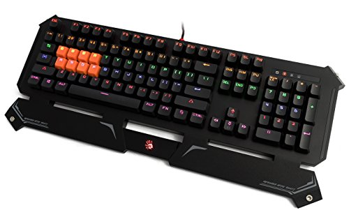 41FA2Nvy0aL - Bloody LED B740 Mechanical Keyboard with Neon Colors - Black Light Strike Switches Water Resistance Gaming Keyboard